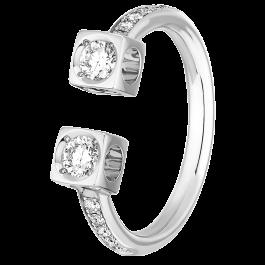 Bague Le Cube Diamant Grand Modele Or Blanc Et Diamants Dinh Van Dinh Van