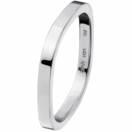 Square wedding band 2mm