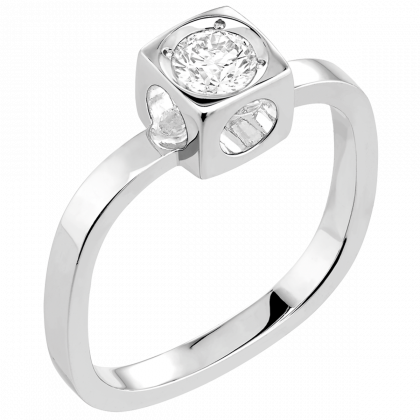 Le Cube Diamant large ring-58