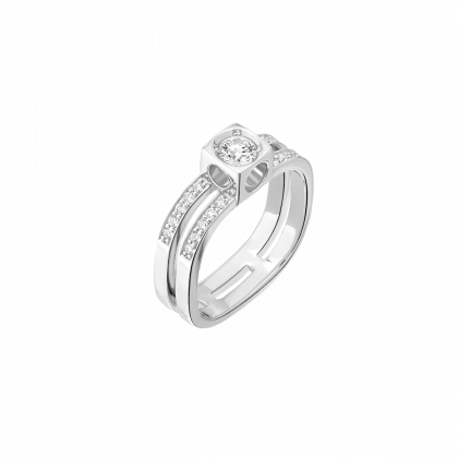 Le Cube Diamant large paved ring