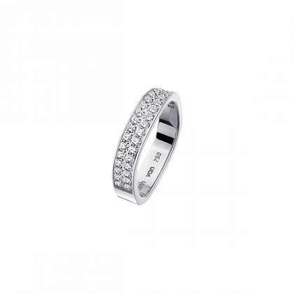Square wedding band 4mm
