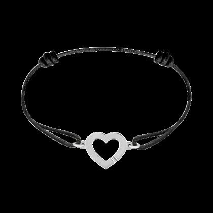 Heart cord bracelet