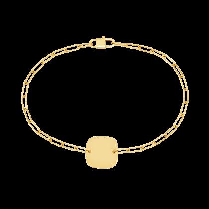 Bracelet sur chaîne Plaque Carrée 12 mm