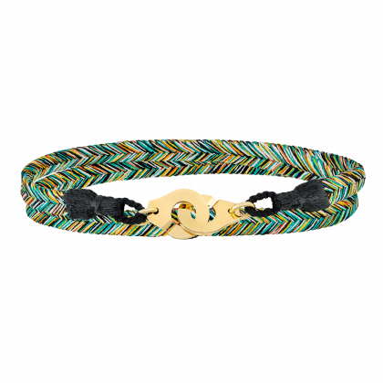 Bracelet tissé Forêt Tropicale Menottes dinh van R10