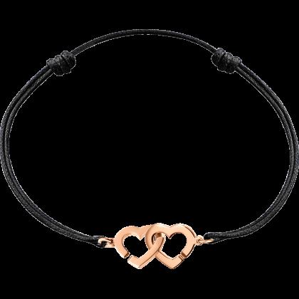 Double Cœurs R9 cord bracelet