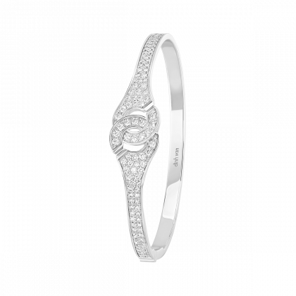 Bracelet Menottes dinh van R12 pavé