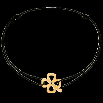 Clover cord bracelet
