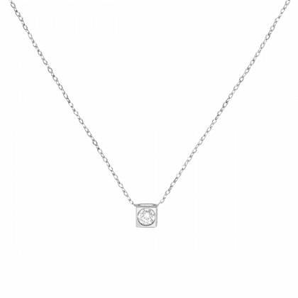 Le Cube diamant necklace
