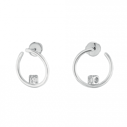 Le Cube Diamant hoop earrings