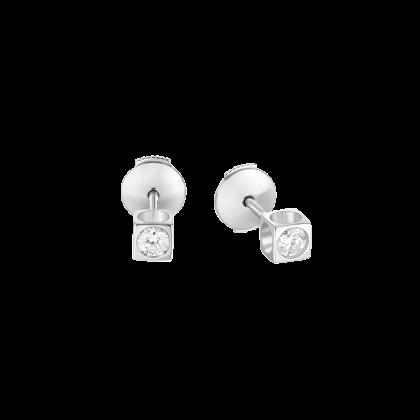 Pendientes botón Le Cube diamant