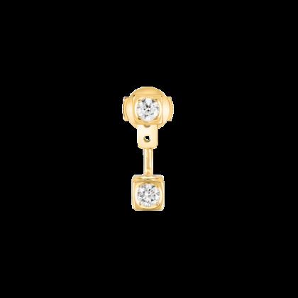 Mono boucle d'oreille Le Cube Diamant