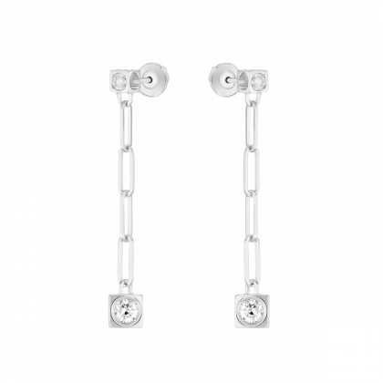 Le Cube Diamant pendant earrings