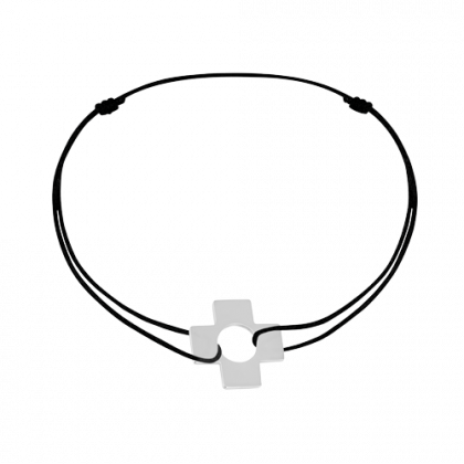 Cross cord bracelet