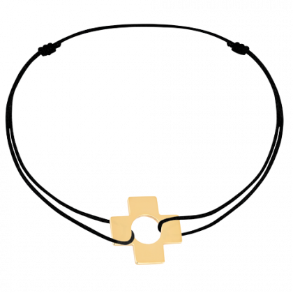 Bracelet sur cordon Croix
