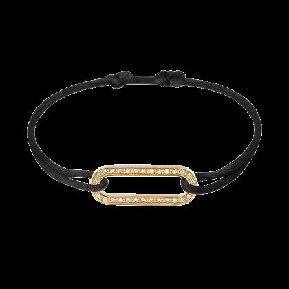 Maillon L cord bracelet