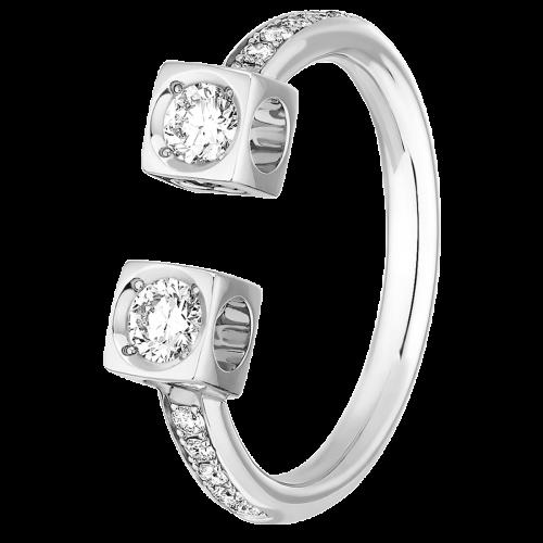 vente chaude en ligne vente moins chère brillance des couleurs Le Cube Diamant large ring