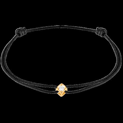 la qualité d'abord super promotions prix favorable Le Cube Diamant cord bracelet