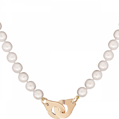 meilleure sélection 3665e d292c Menottes dinh van R12 necklace - pink gold - dinh van   dinh van