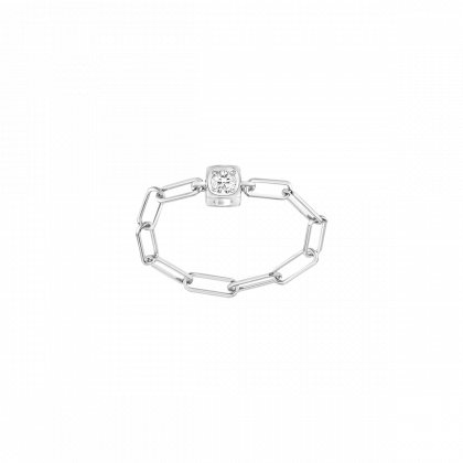 Le Cube Diamant large chain ring