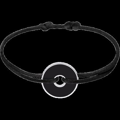 Bracelet sur cordon Pi White & Black