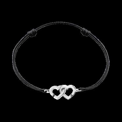 Bracelet sur cordon Double Cœurs R9