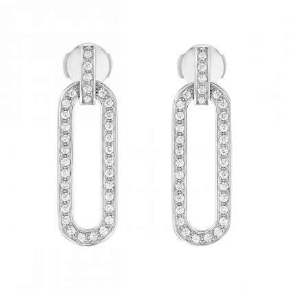 Maillon L medium earrings