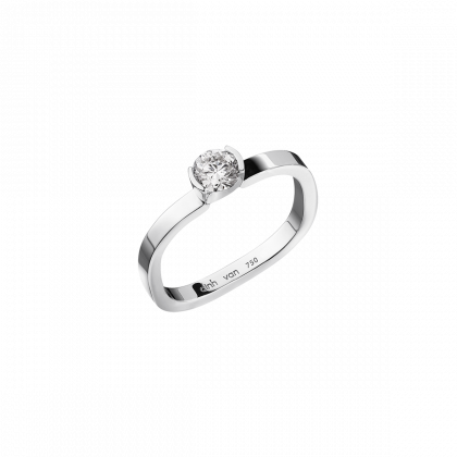 Flore small engagement ring