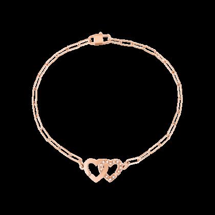 Bracelet Double Cœurs R9