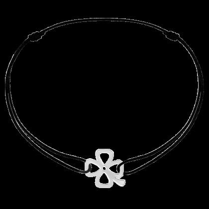 Bracelet sur cordon trèfle