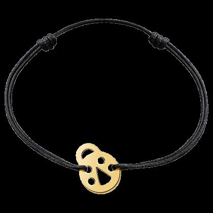 Bracelet sur cordon coccinelle