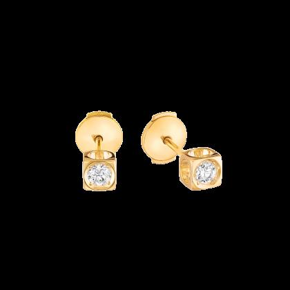 Pendientes botón Le Cube Diamant modelo mediano