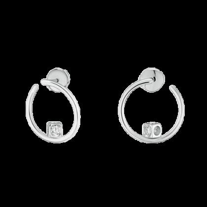 Le Cube Diamant hoop earrings