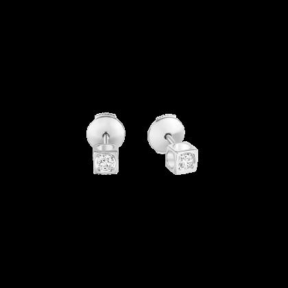 Pendientes botón Le Cube Diamant modelo pequeño